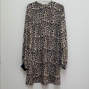 ATM silk leopard print swing dress